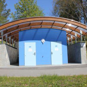 Venkovní toalety sportoviště, CSS Hrabyně