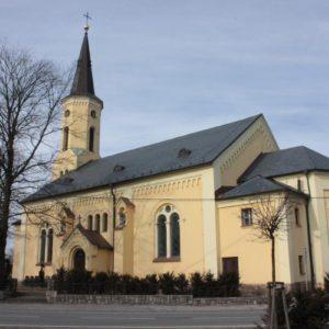 Oprava fasády kostela, Hrabyně
