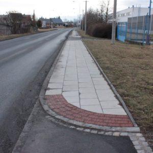 Prodloužení chodníku ul. Vávrovická, Opava – Palhanec