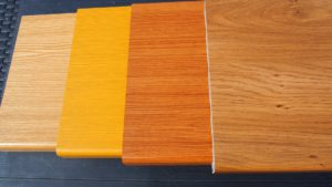 Plastový parapet - dekor dřeva - borovice, Oregon, Douglas, Winchester