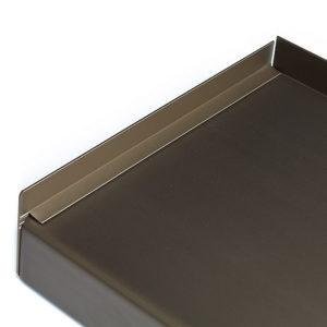 Hliníkový parapet vnější - tažený hliník - elox bronzový (C-33)