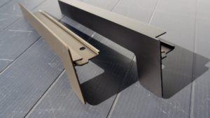 Hliníkový parapet vnější - hliníkové krytky k omítce, pod omítku