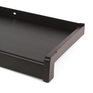 Hliníkový parapet vnější - tažený hliník - tmavě hnědý elox (C-34)