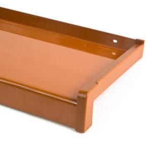 Hliníkový parapet vnější - tažený hliník - elox světlý dub (RAL 8003)