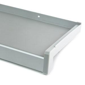 Hliníkový parapet vnější - tažený hliník - elox stříbrný (EV1)