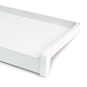 Hliníkový parapet vnější - tažený hliník - bílá